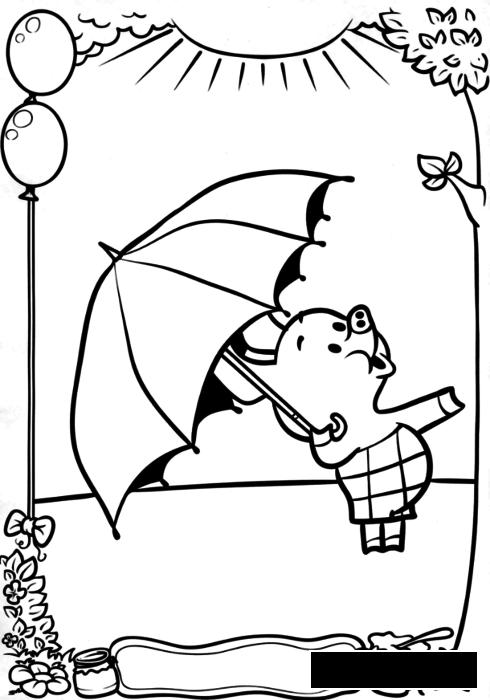 Coloring Winnie the Pooh  Winnie the Pooh, Piglet, coloring pages for kids