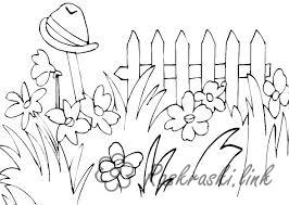 Coloring hat coloring pages summer flowers