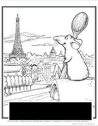 Розмальовки Париж розфарбування місто Париж, Ремі, Ейфелева вежа, будинки