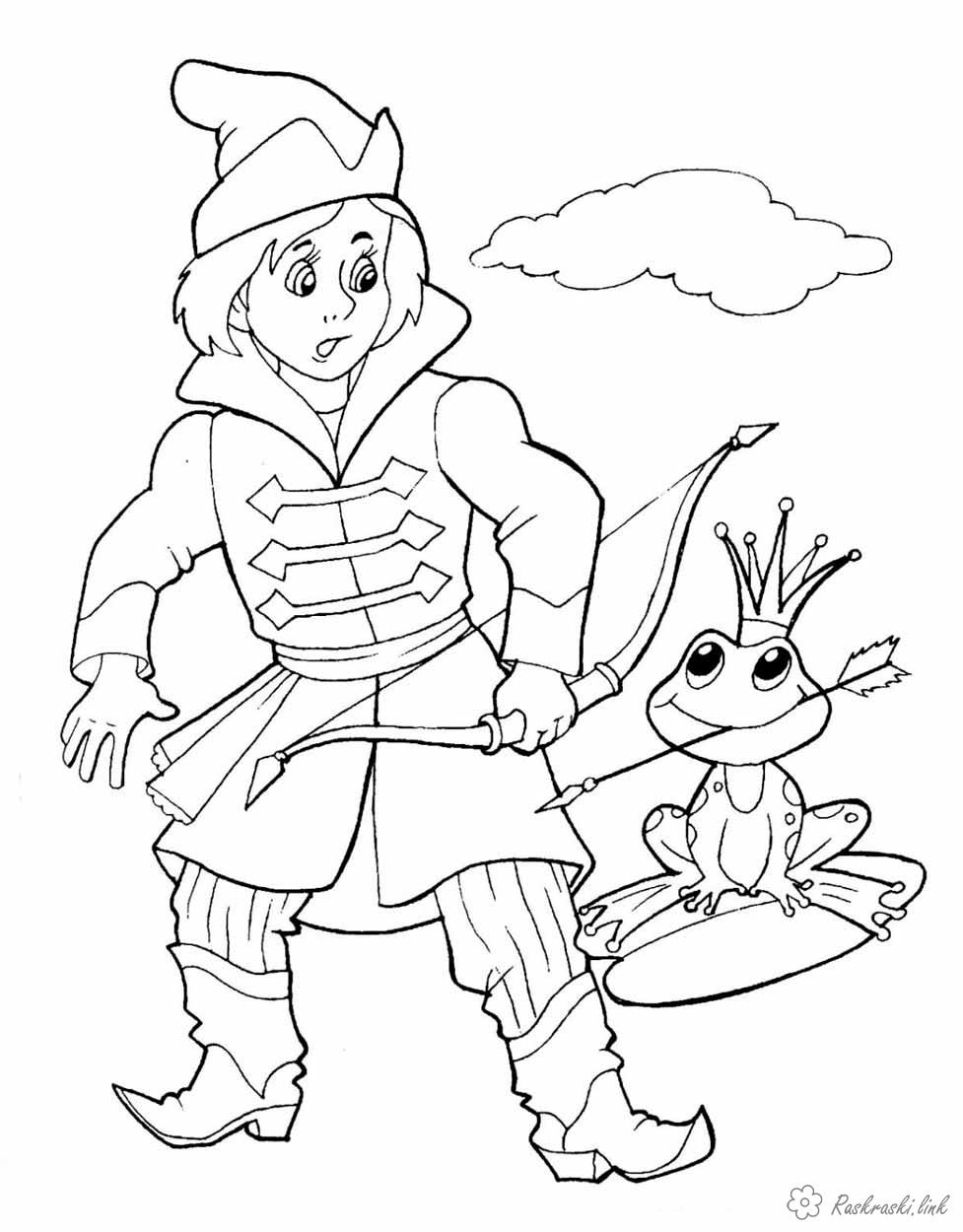 Coloring coloring pages of Russian fairy tales coloring pages tale Ivan Tsarevich and Vasilisa the Beautiful