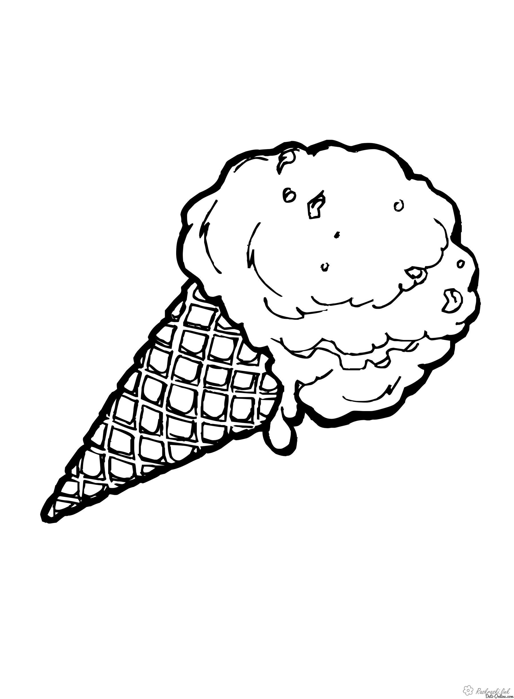 Coloring Ice-cream coloring pages for children, ice cream, dessert, very tasty