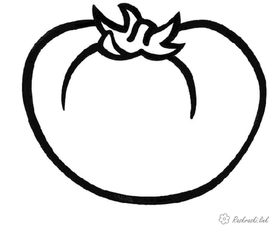 Coloring red Very large and juicy, coloring pages, red, tomato