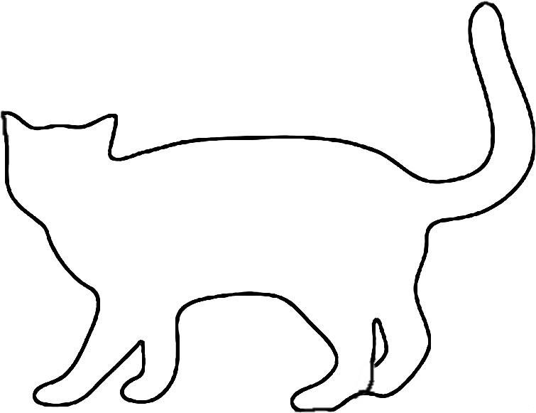 Раскраски кота кот стоит