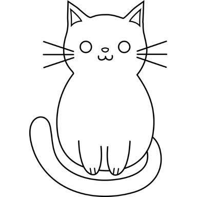 Раскраски кота веселый кот