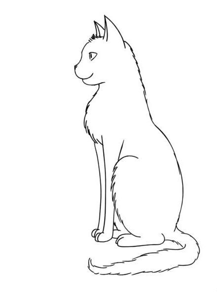 Раскраски кота изображения кота с боку