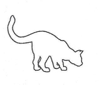 Раскраски кота контур кота кот нюхает