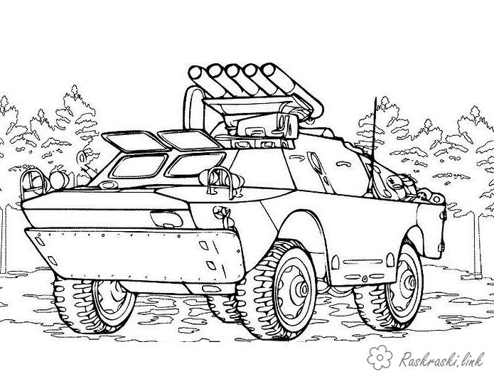Coloring Weapons coloring pages, intelligence, machine, military rover, exploration Russia