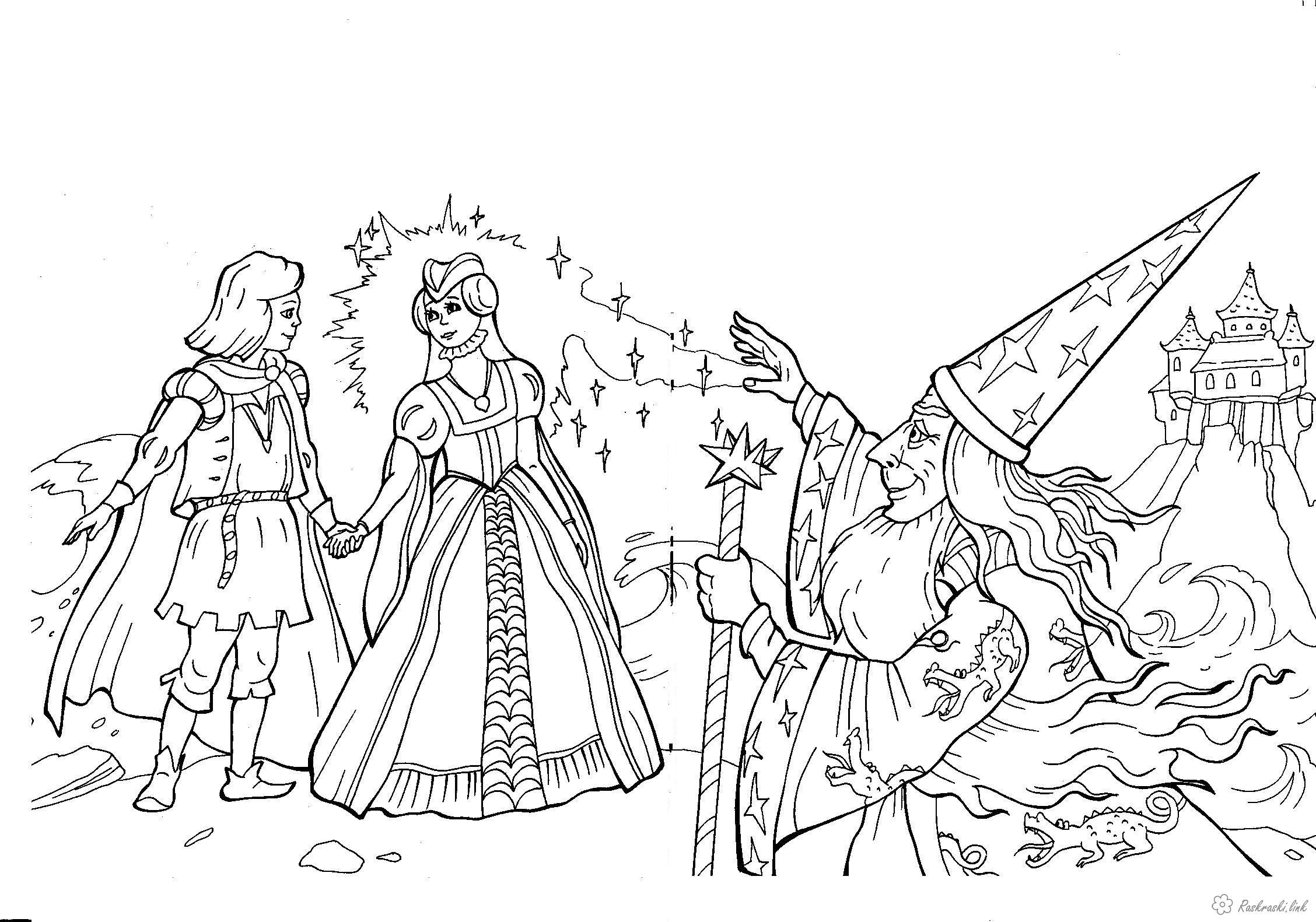 Раскраски нос карлик нос, раскраска, мультфильм, Гауф, волшебство, колдунья, Мими, Якоб, юноша