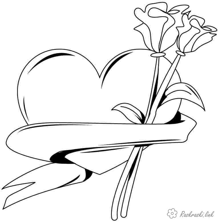 цветы Розмальовки роздрукувати бесплатно.