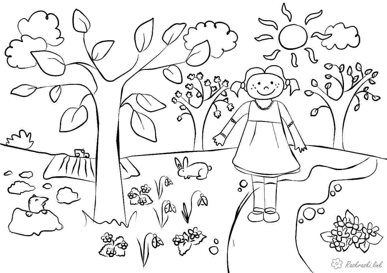 Розмальовки Весна розмальовки про весну