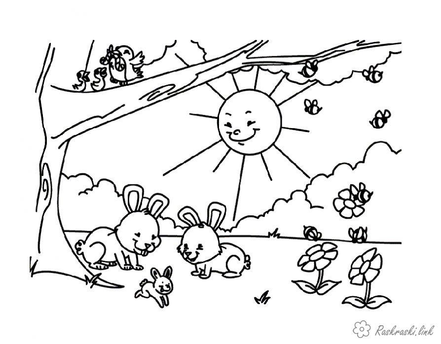 Весна Раскраски распечатать бесплатно.