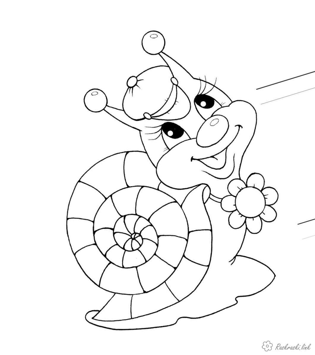 Улитка раскраска для детей картинки с пояснением распечатать