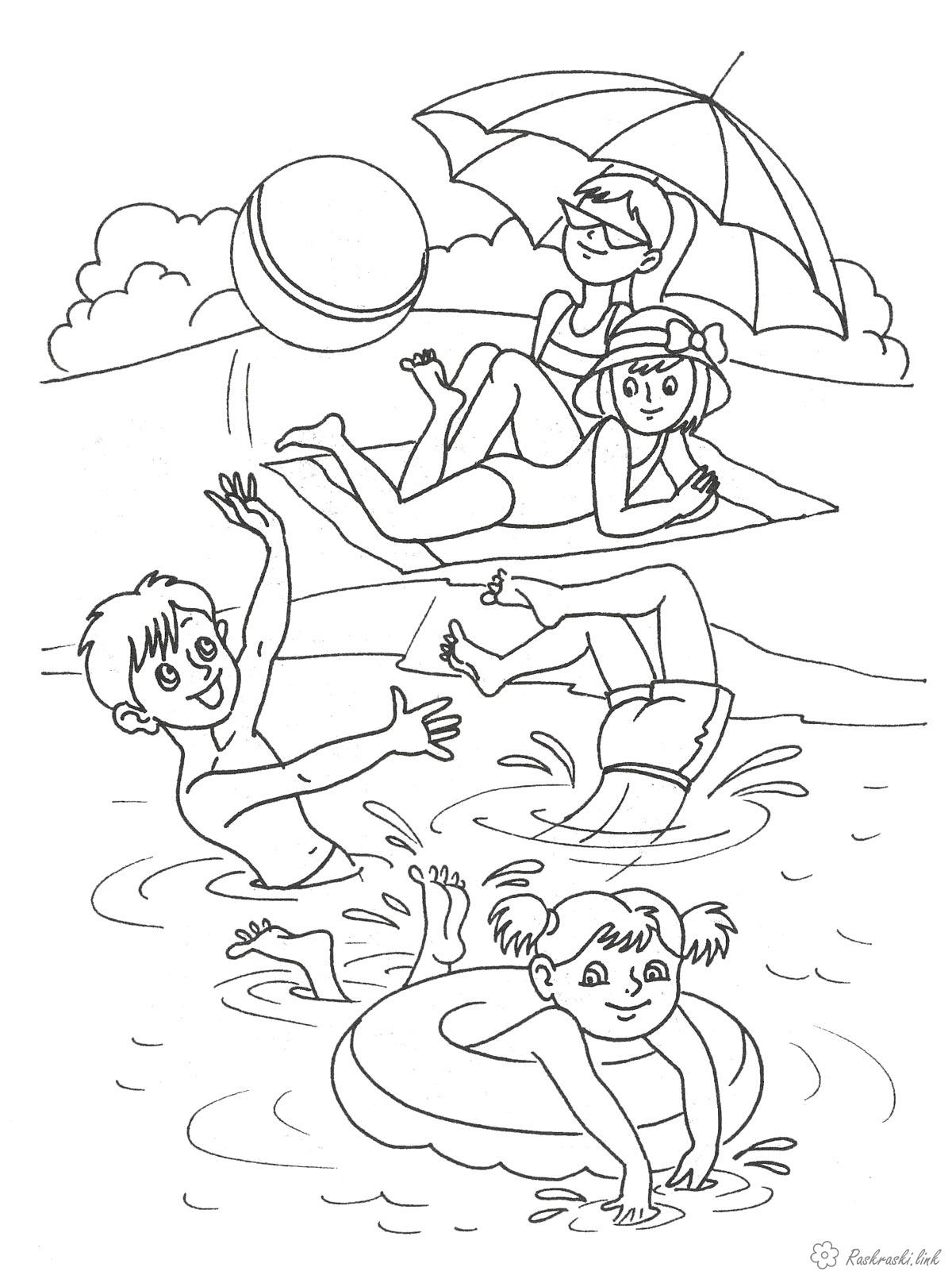 Розмальовки Пори року Розмальовки про літо, літні краскраскі