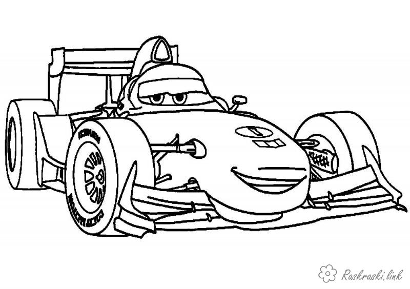 Coloring Pixar coloring pages to the animated film Cars 2