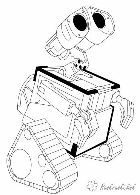Coloring Pixar WALL-E coloring pages