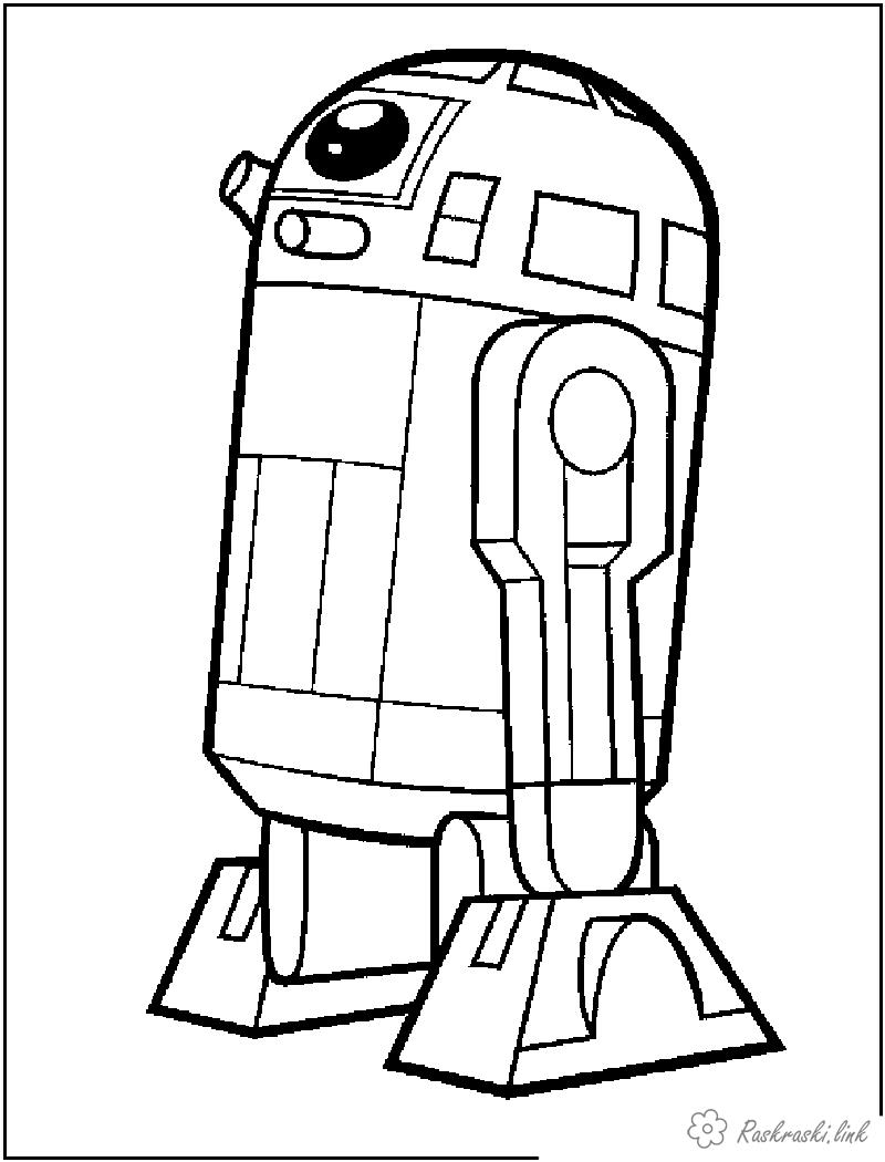 роботы Раскраски распечатать бесплатно.