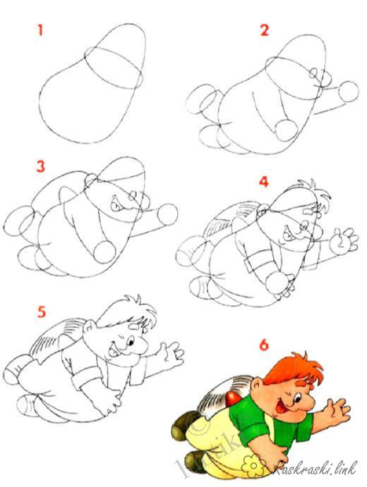Coloring How to draw how to draw step by step Carlson