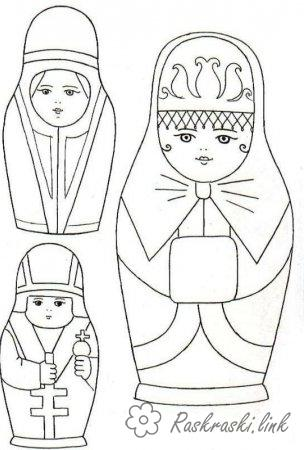 Coloring Colorize doll dolls, coloring pages