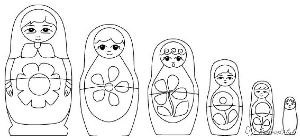 Coloring Colorize doll matryoshka, coloring pages, paint, step by step