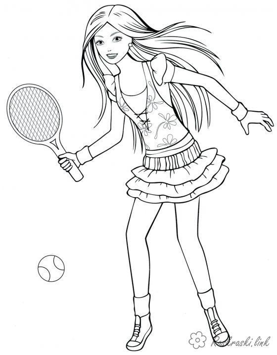 Coloring coloring pages girl детские раскраски, раскраски для девочек, теннис