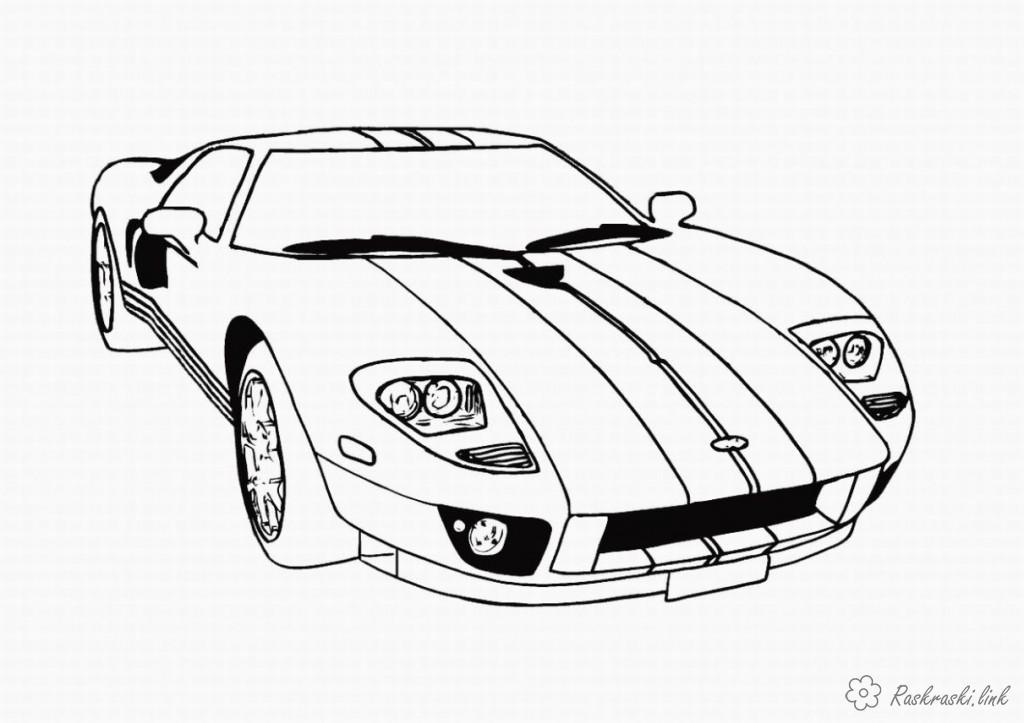 Розмальовки Розфарбувати машину
