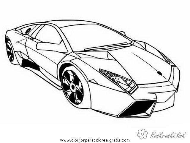 Розмальовки машина ломбарджіні автомобіль машина престиж красива
