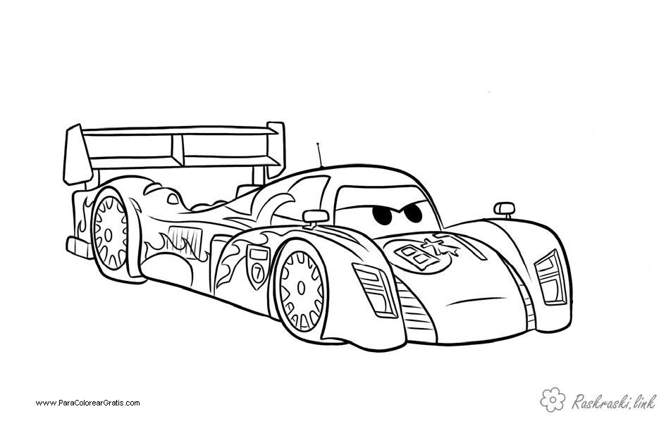 Coloring Colorize machine car automobile racing car speed