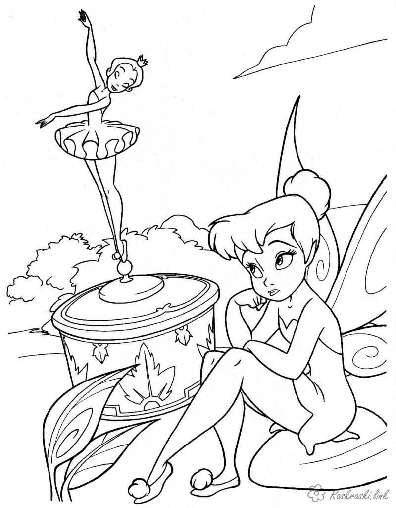 Coloring Girls Fairy coloring pages, wings, ballerina