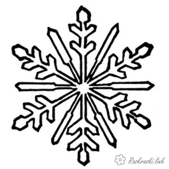 Розмальовки Зима
