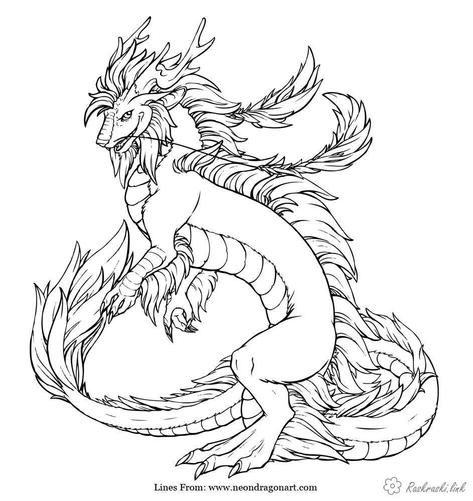 Coloring Asia coloring pages books for children, travel, asia, dragon