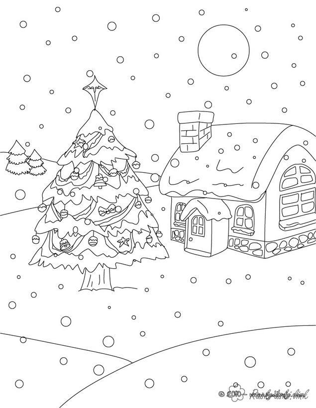Розмальовки сніг розмальовки для дітей, явища природи, природа, сніг