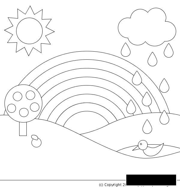 Раскраски природа раскраски для детей, явления природы, природа, радуга, дерево, дождь, солнце