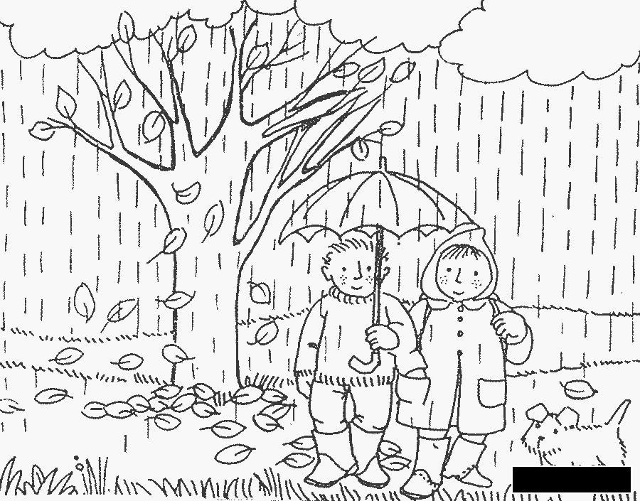 Раскраски природы раскраски для детей, явления природы, природа, люди, дождь
