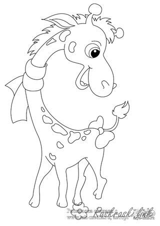 Coloring Africa coloring pages books for children, animals, Africa, giraffe
