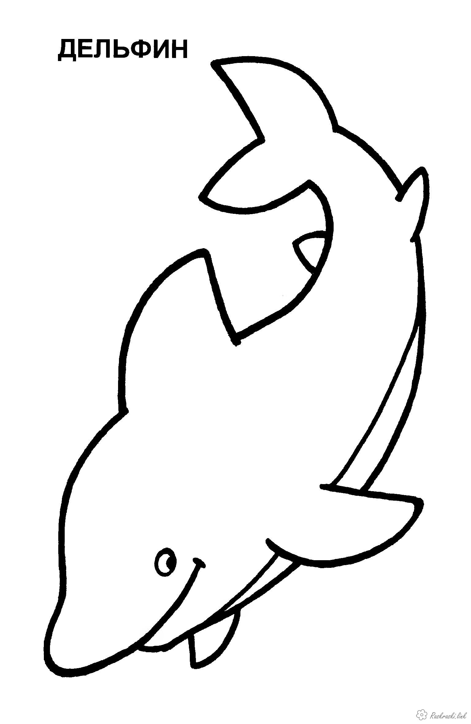 Coloring Simple coloring pages for kids Children coloring pages dolphin