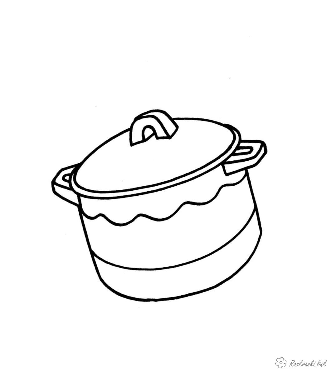 Coloring Simple coloring pages for kids Children coloring pages utensils, pots