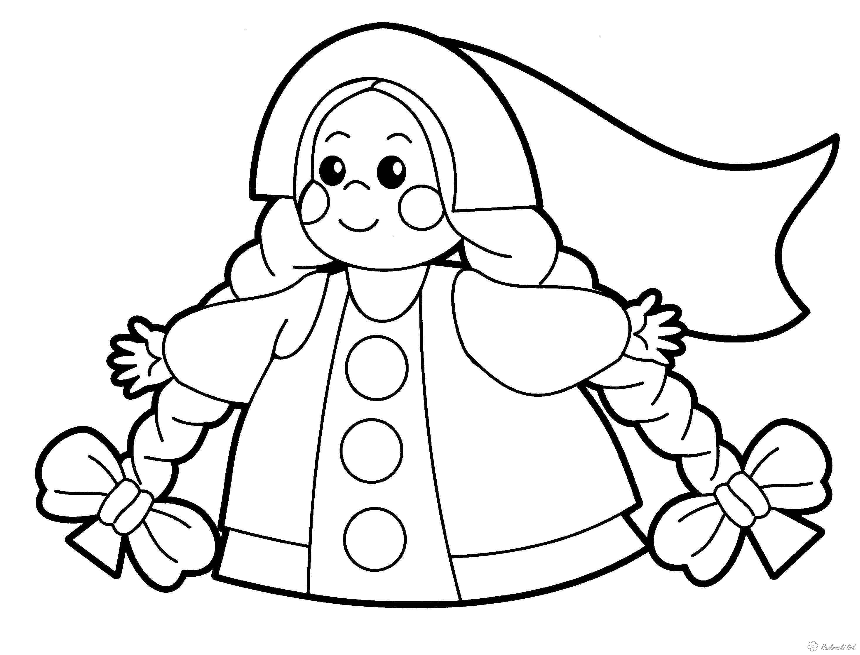 Розмальовки дівчинка Дитяча розмальовка дівчинка з довгими косами