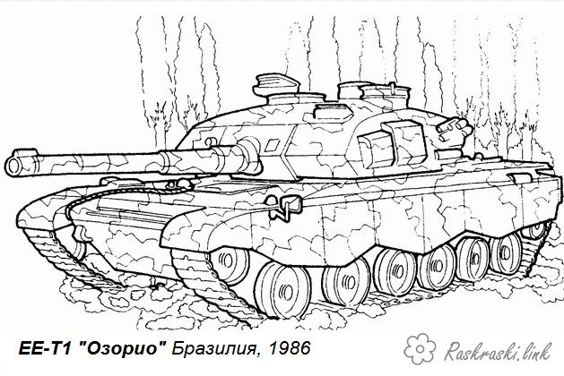Coloring Tanks coloring pages, tank timber