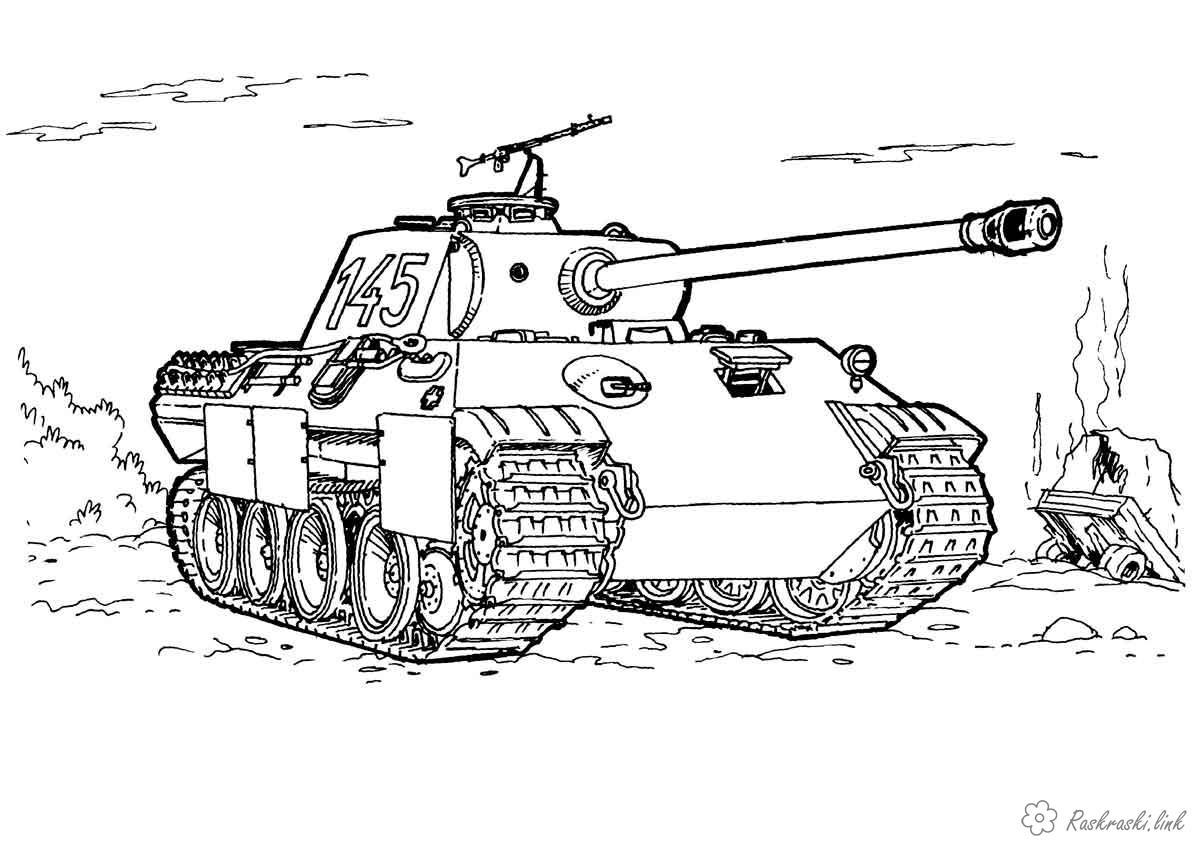 Раскраски детские раскраски к 9 мая день победы детские, танки