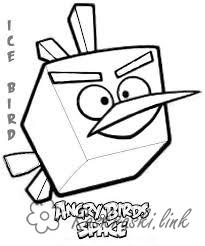 Coloring Angry Birds angry bird square coloring pages