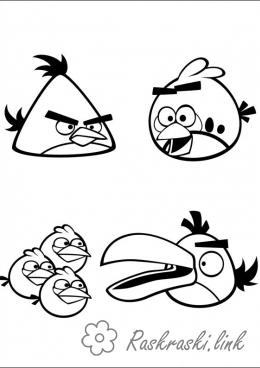 Coloring Angry Birds coloring pages 4 and where the evil birds