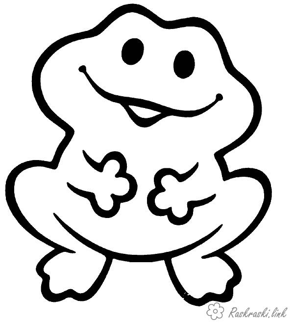 Coloring Simple coloring pages for kids Simple coloring pages, frog, frog