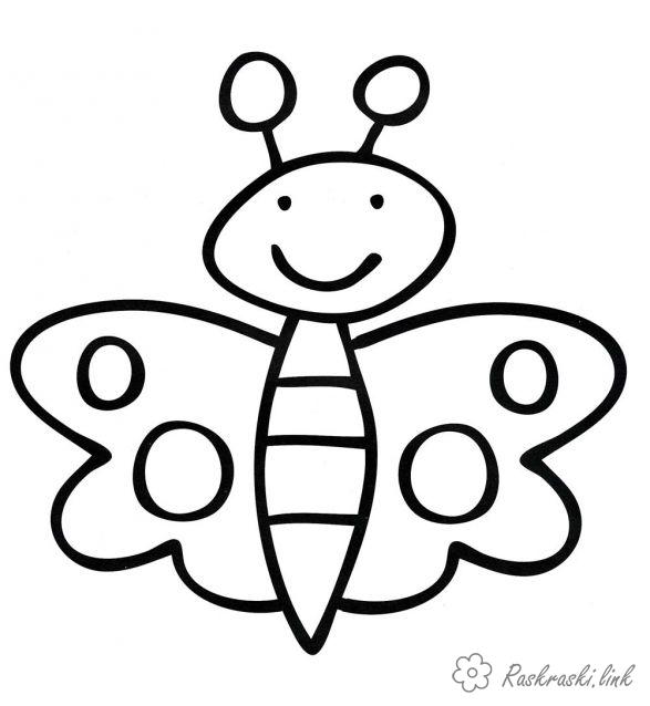 Coloring Simple coloring pages for kids Simple coloring pages, Butterfly