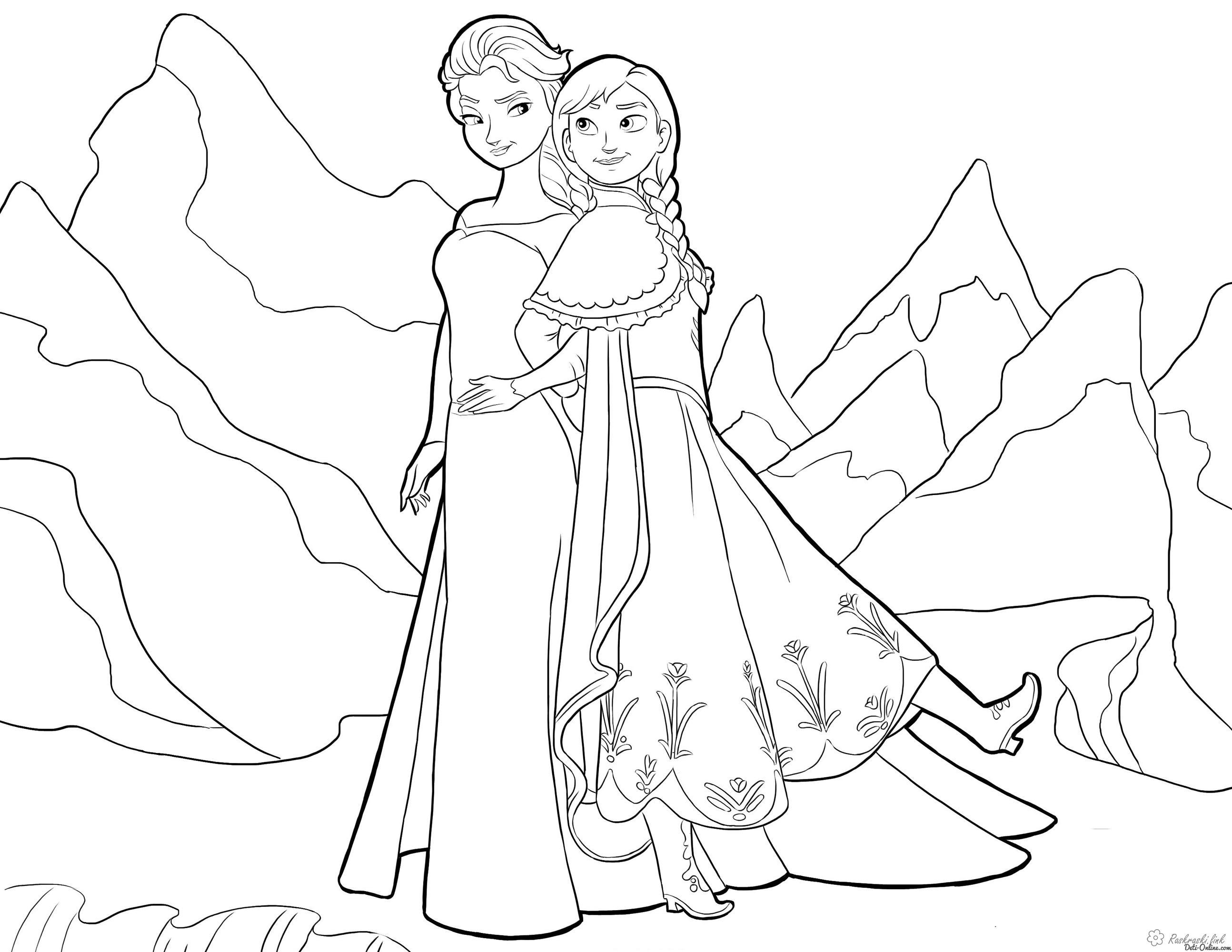 Розмальовки Уолт Дісней Дитяча розфарбування по мультфільму