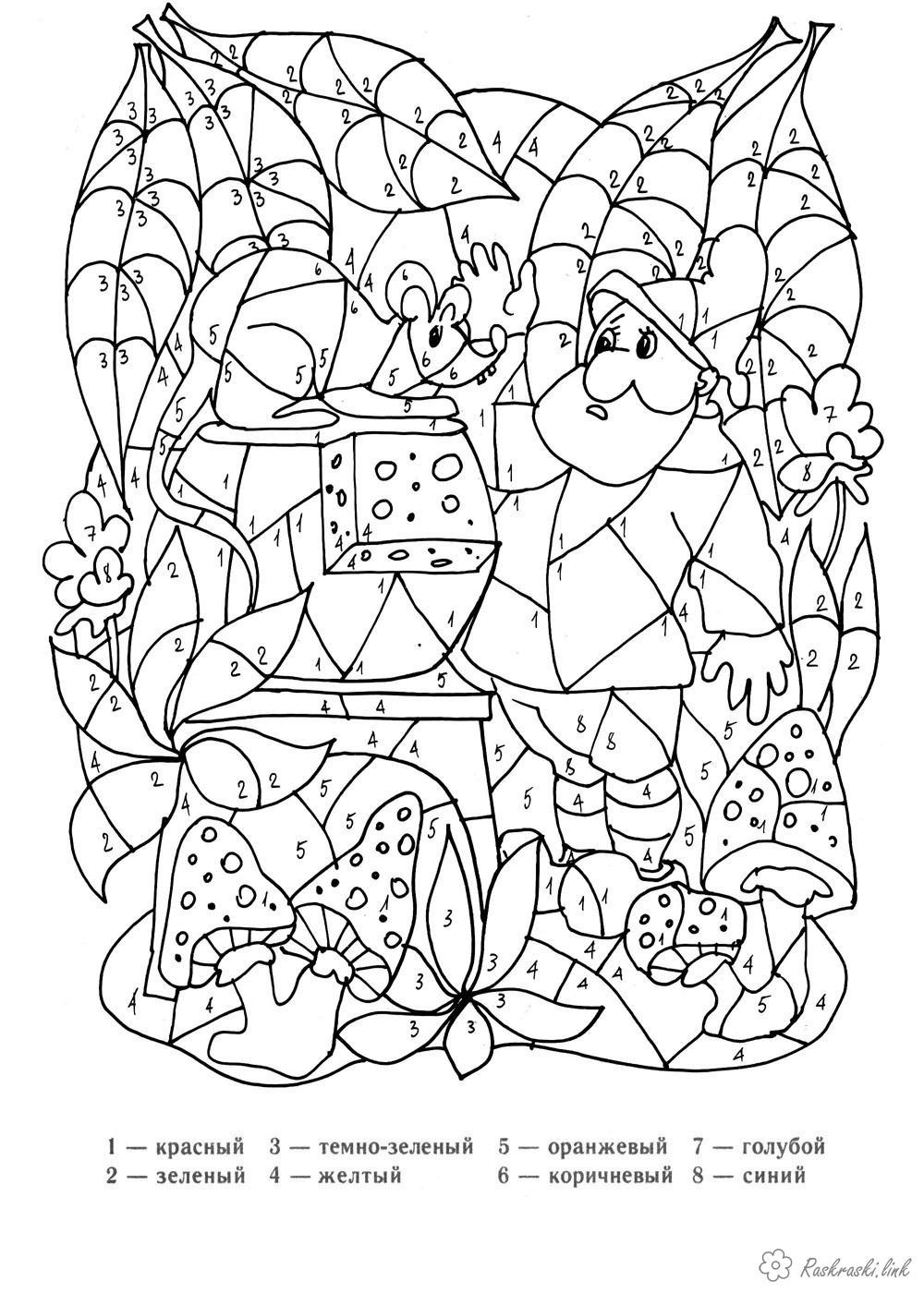 Розмальовки Розмальовки за номерами розмальовки для дітей, розмальовки за номерами