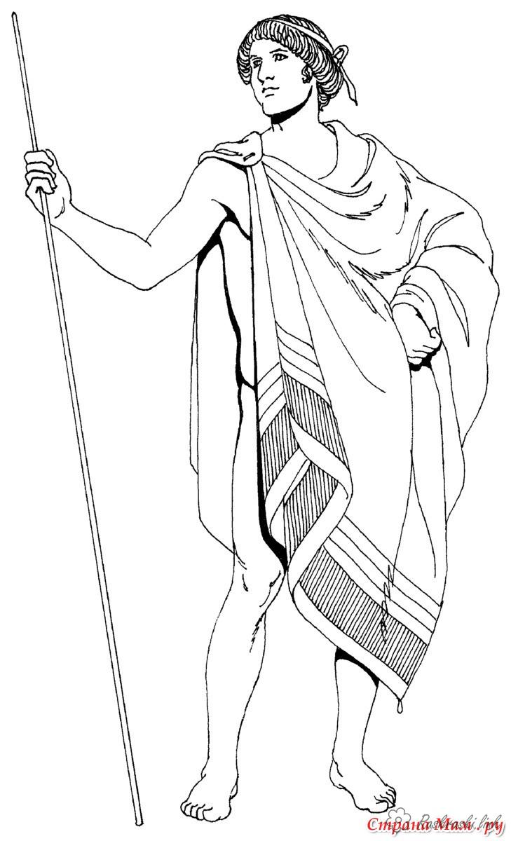 Coloring Europe Children coloring pages ancient Rome, men apparel
