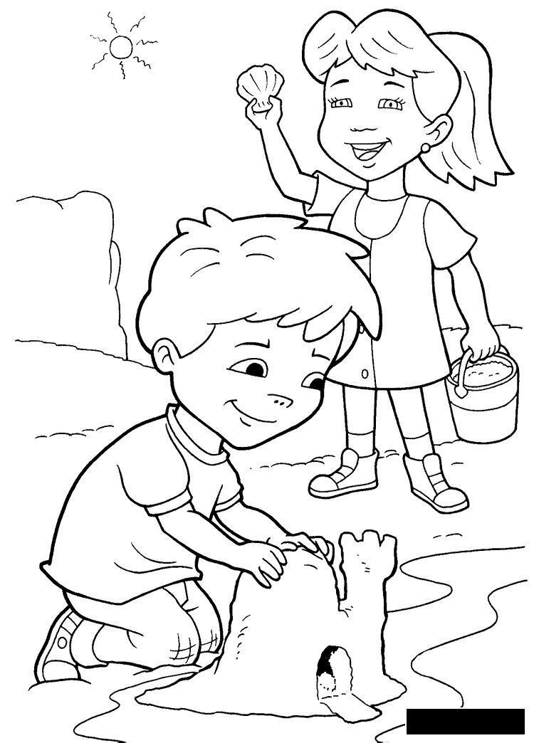 Розмальовки хлопчик Розмальовки свята, розмальовки 1 червня, діти, дівчинка, хлопчик