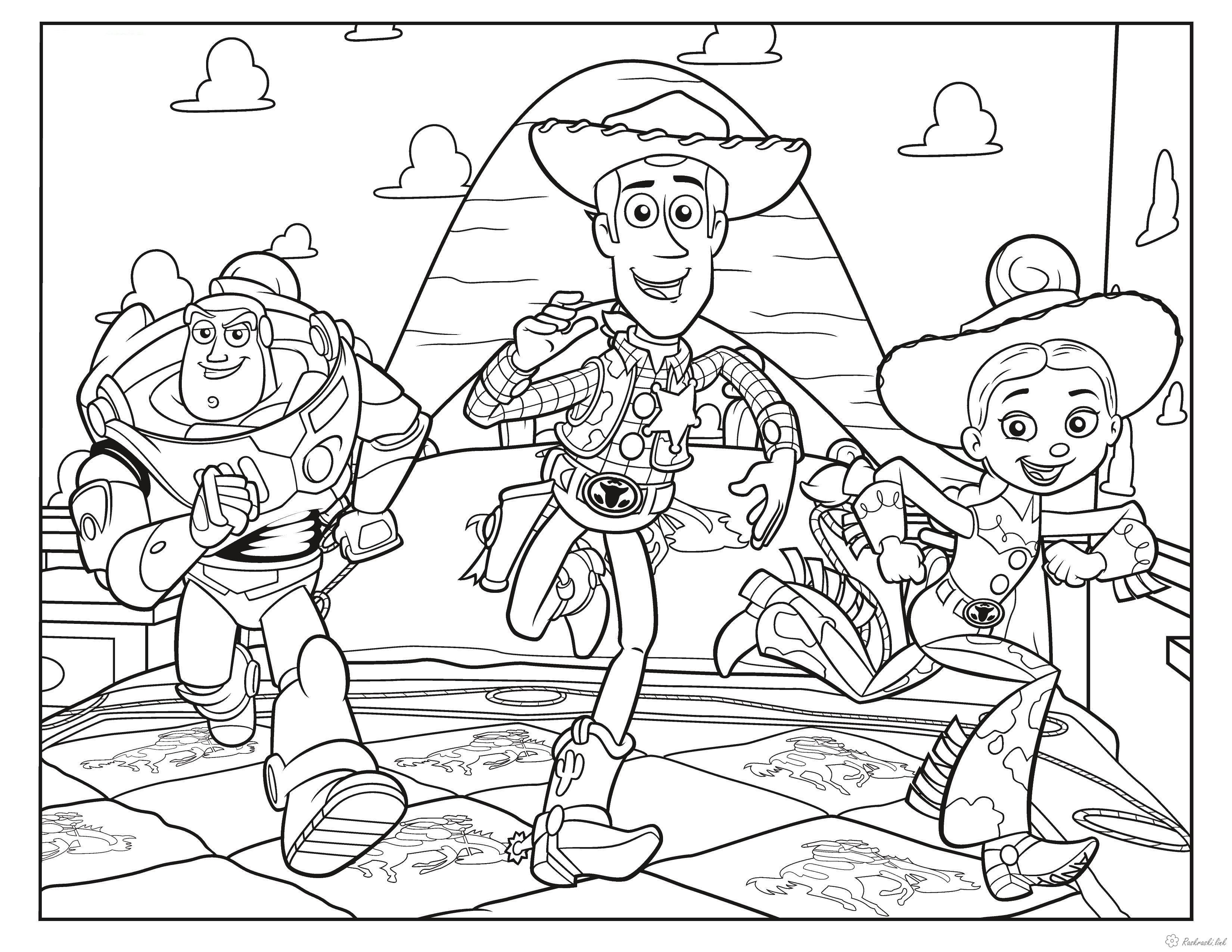 Розмальовки Історія іграшок Історія іграшок, Джессі, іграшка