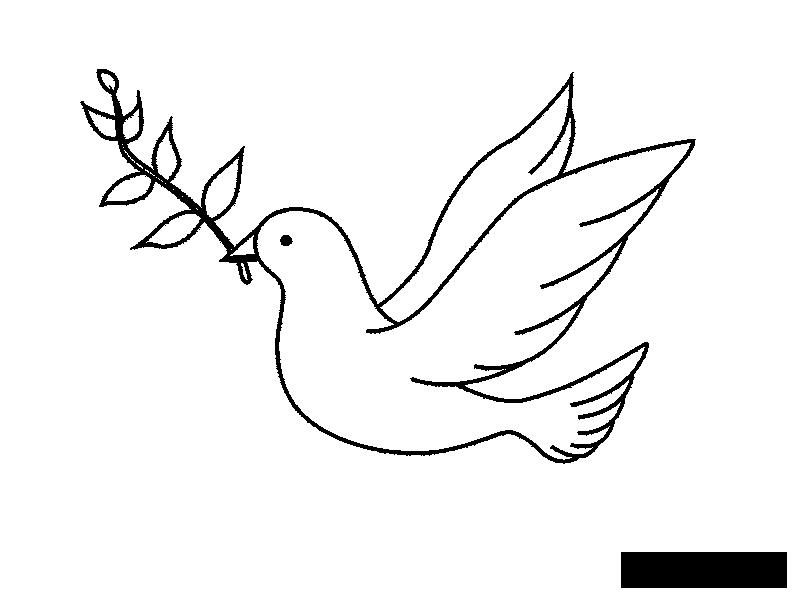 Розмальовки День перемоги 9 травня як намалювати голуба