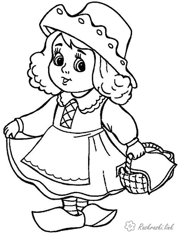 Coloring red coloring pages Red Riding Hood